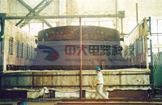 炉膛尺寸:(长7.5x宽7.5x高4.5)M组合式全纤维电阻炉